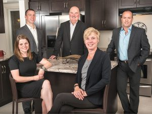 Paul Martin (Broker of Record), Malcolm Crooks (Broker), Melissa Seagrove (Broker), Alex MacDonald (Sales Representative), and Amy Stephens (Client Care Coordinator)